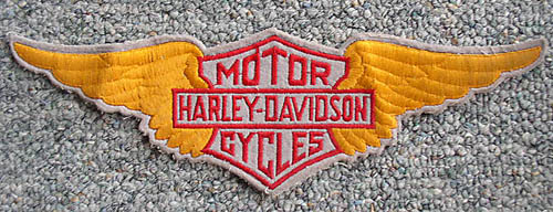 harley wings patch