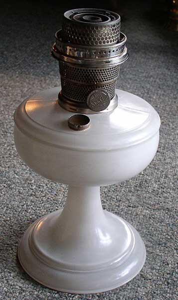 Aladdin White Venetian Kerosene Lamp #100