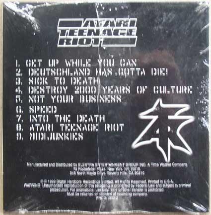 Atari Teenage Riot / Live Philadelphia CD 2