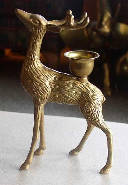 brass deer holder