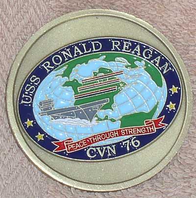 Navy Challenge Coin USS Ronald Reagan CVN 76 – Thingery