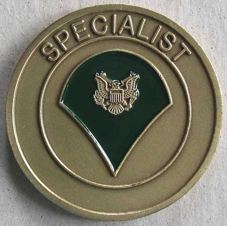 Military Challenge Coin US Army Specialist Rank – Thingery Previews