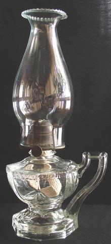 Vintage Greek Key Pattern Hand Oil Lamp 2