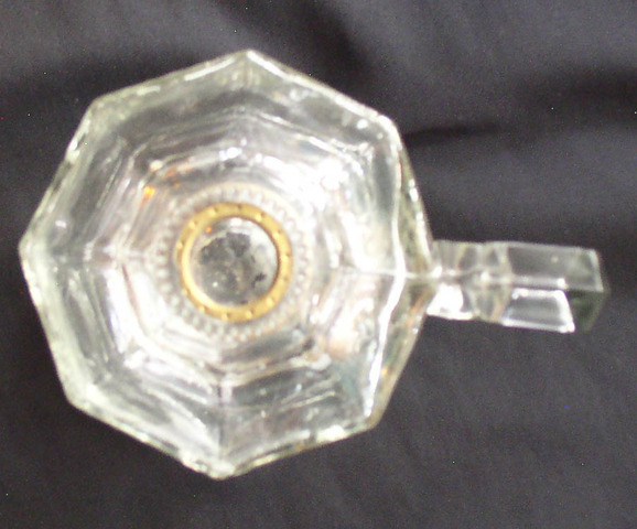 Vintage Greek Key Pattern Hand Oil Lamp 3