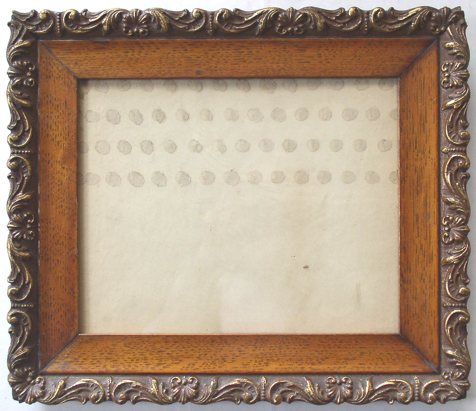 antique ornate wood and gesso picture frame thingery previews