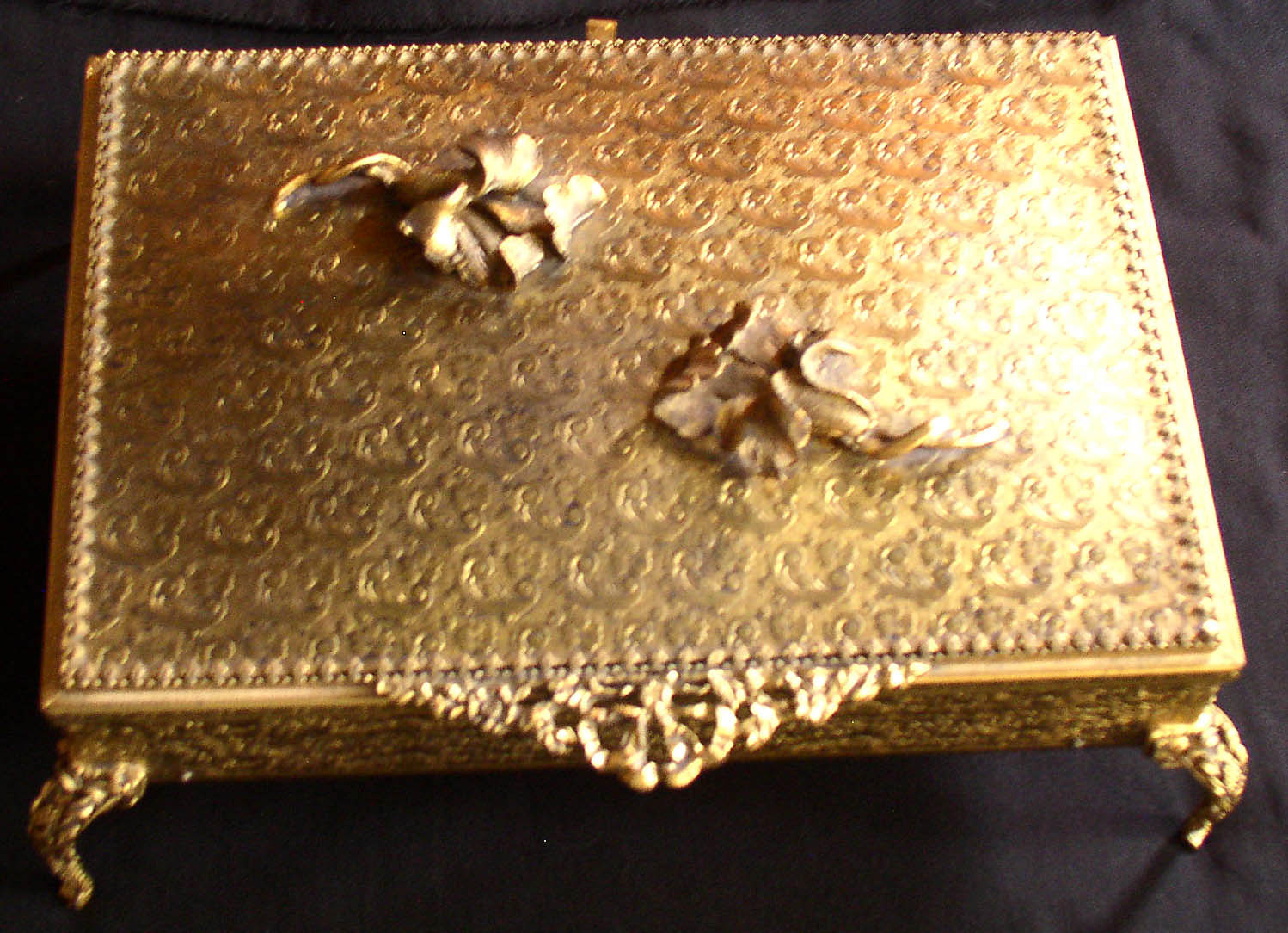 Empire Auto Sales >> Vintage Globe 24Kt Gold Filigree Jewelry Casket Box – Thingery Previews Postviews & Thoughts