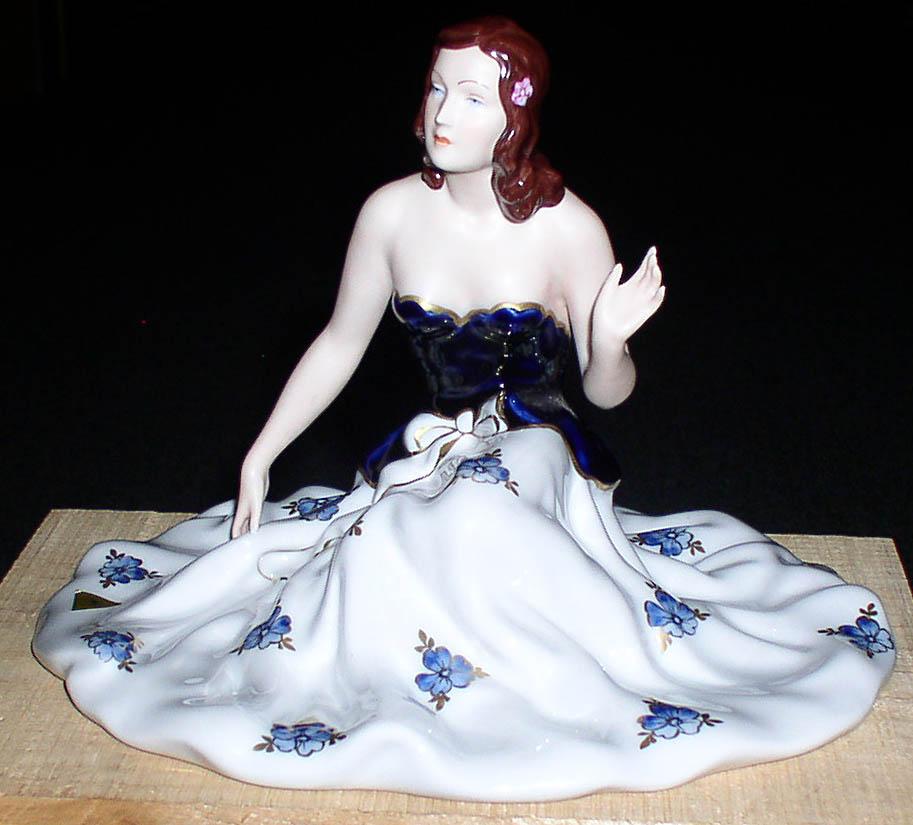 Empire Auto Sales >> Vintage Royal Dux Bohemia Porcelain Lady Figurine ...