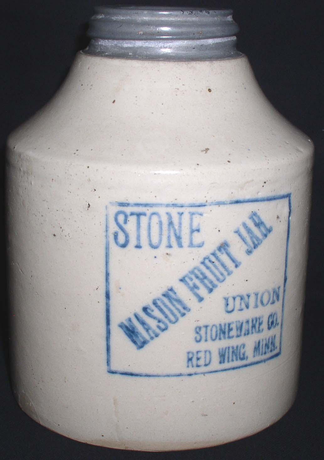 Red Wing Union Stoneware Stone Mason Fruit Jar Thingery