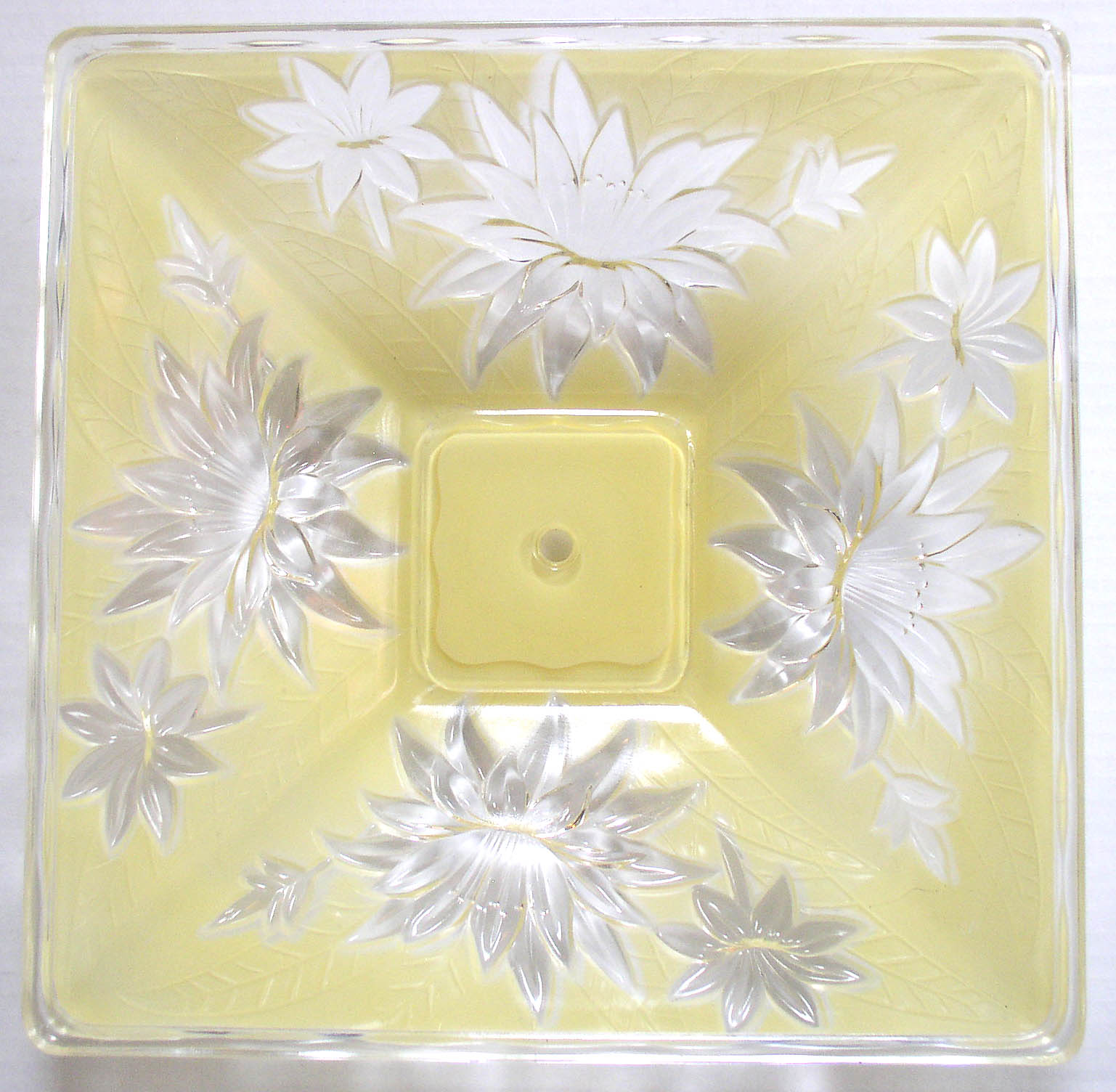 Vintage Art Deco Yellow Glass Ceiling Light Shade 14