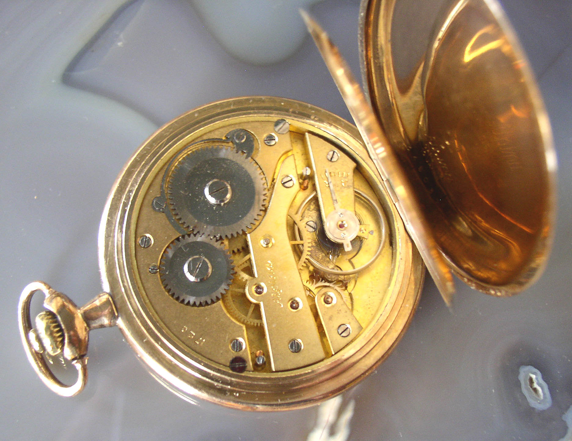 16s Alpina Gold Filled Hunter Case Pocket Watch Thingery