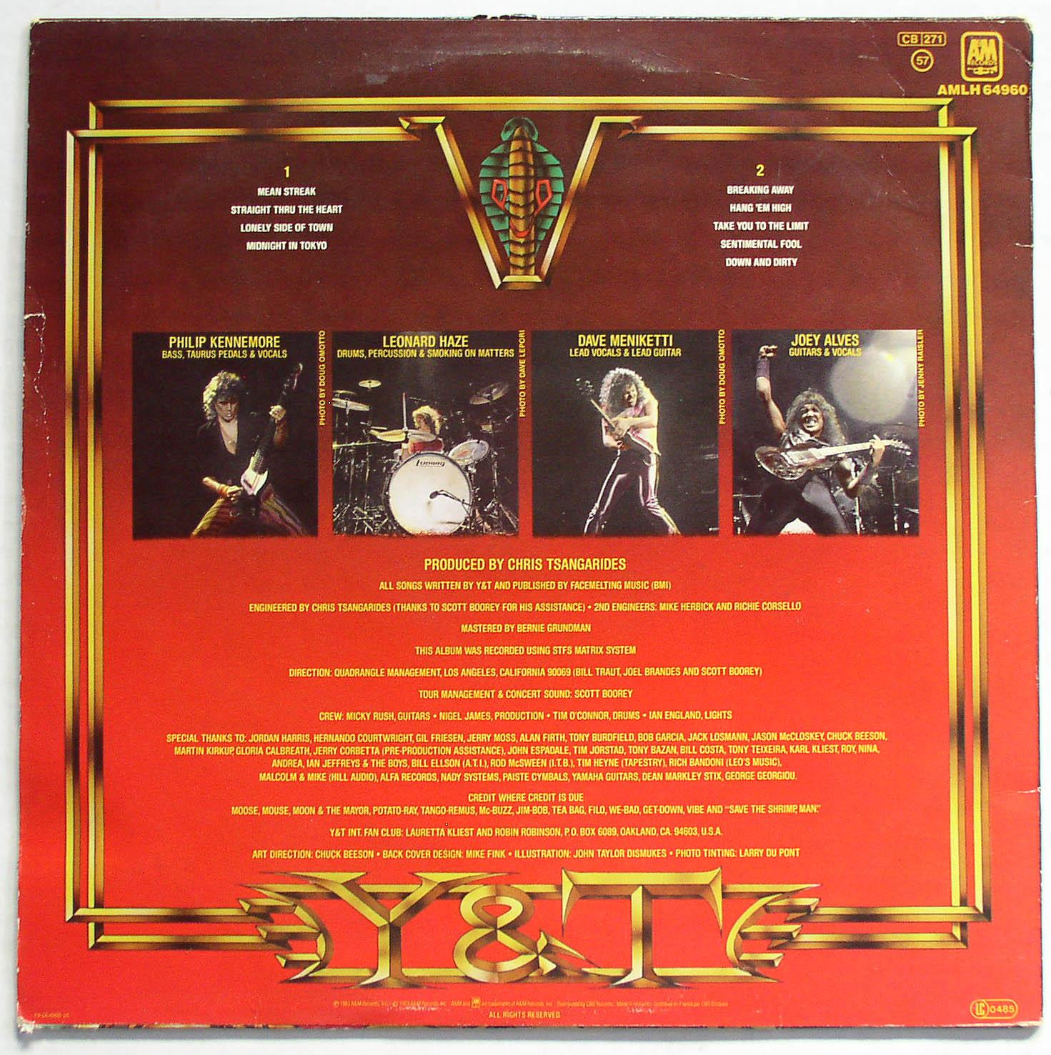 Lp Y Amp T Mean Streak Holland 1983 A Amp M Thingery