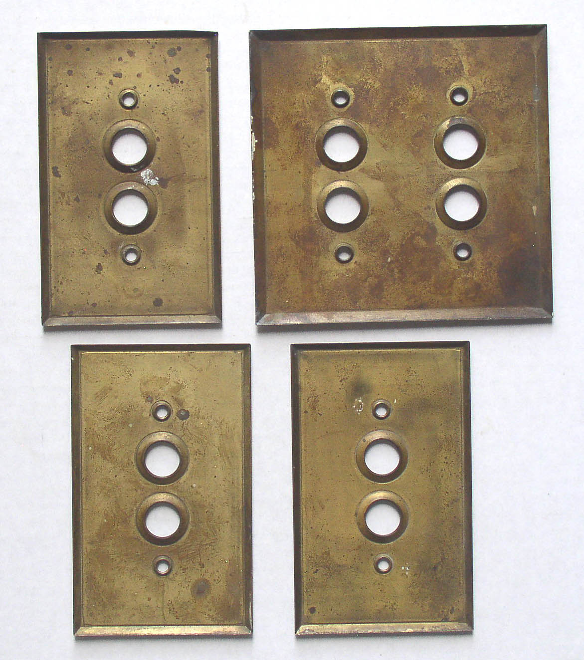 Brass Light Switch Covers Captivating 4 Antique Brass Push Button Switch Plates Covers  Thingery Inspiration