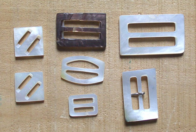 Assortment Small Mother Of Pearl Buckles Thingery