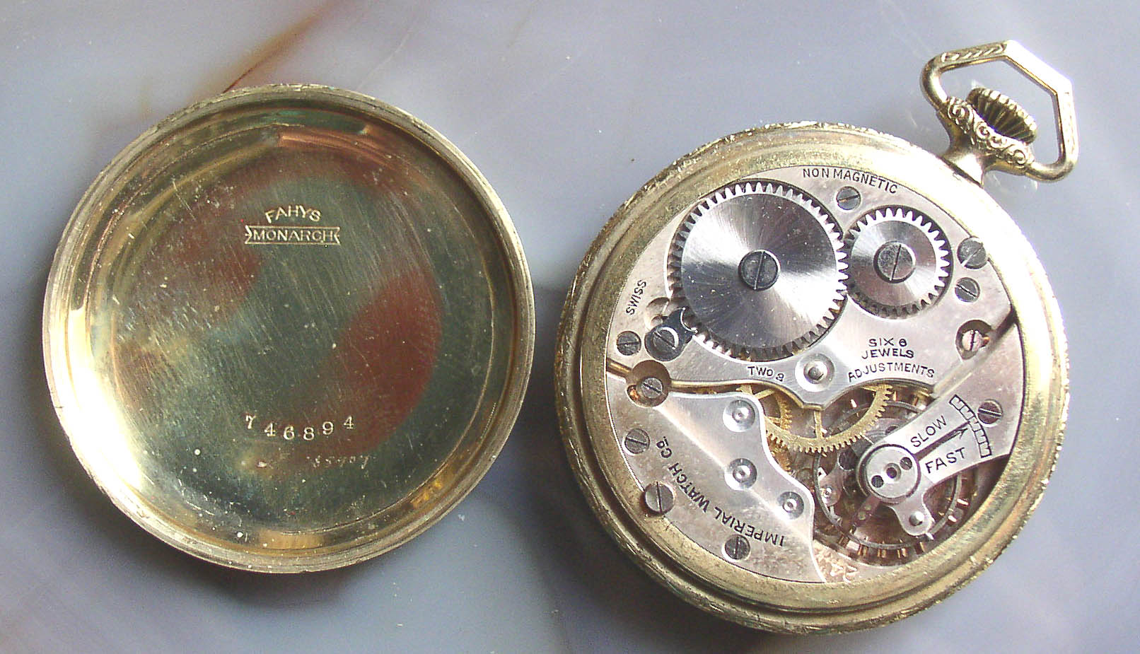 Empire Auto Sales >> Imperial Watch Co. Pocket Watch Fahys Monarch G.F. Case ...