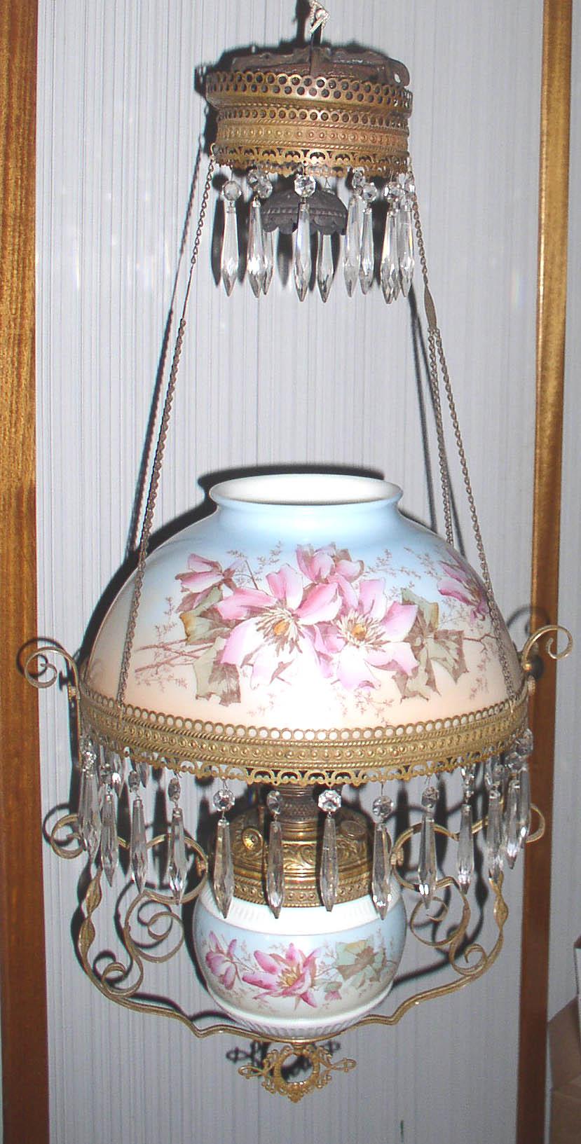 Bradley Hubbard B Amp H Hanging Library Parlor Oil Lamp