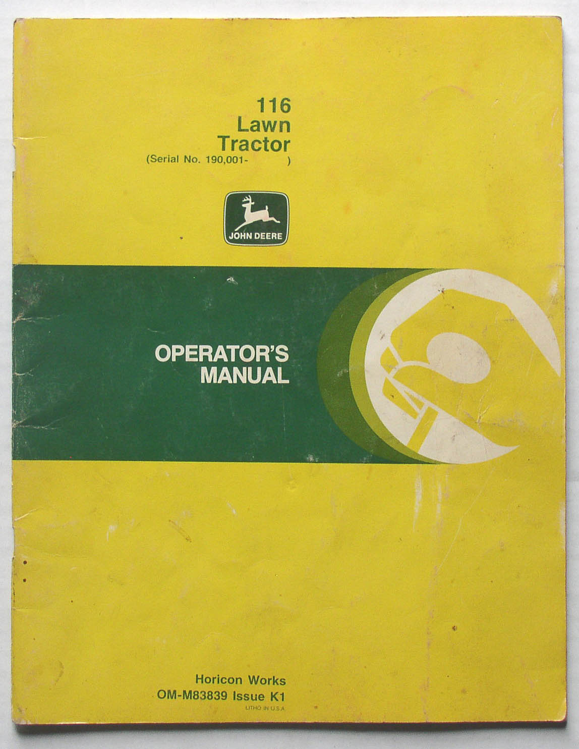 116 John Deere Lawn Tractor Wiring Diagram Starting Know About Ford 7710 Original Operator S Manual Thingery Rh Saintstevensthingery Com