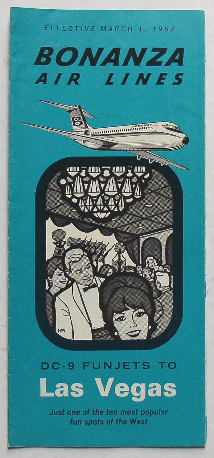 Bonanza May 2011: Bonanza Airlines March 1, 1967 Timetable