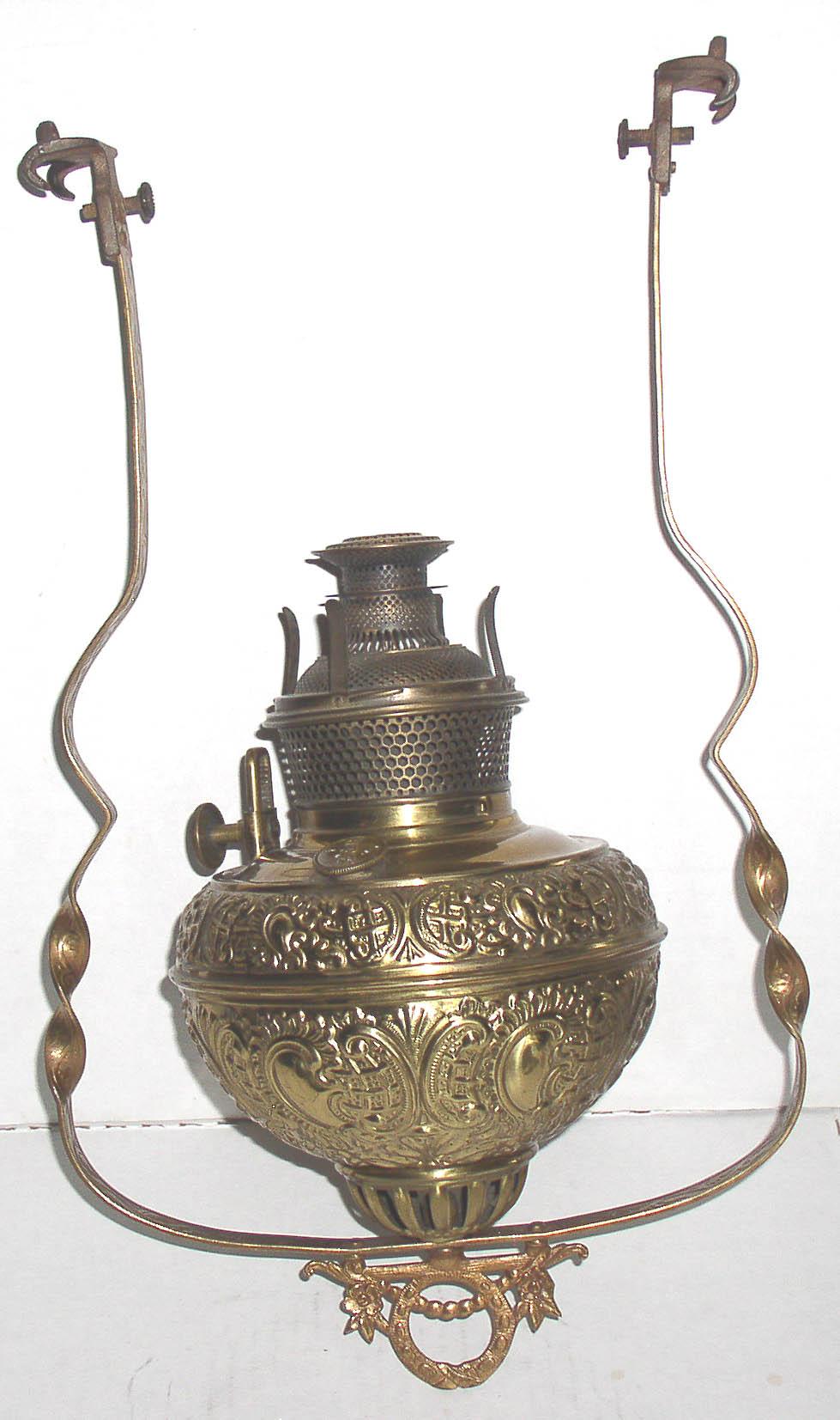Bradley Amp Hubbard B Amp H Hanging Library Oil Lamp Thingery
