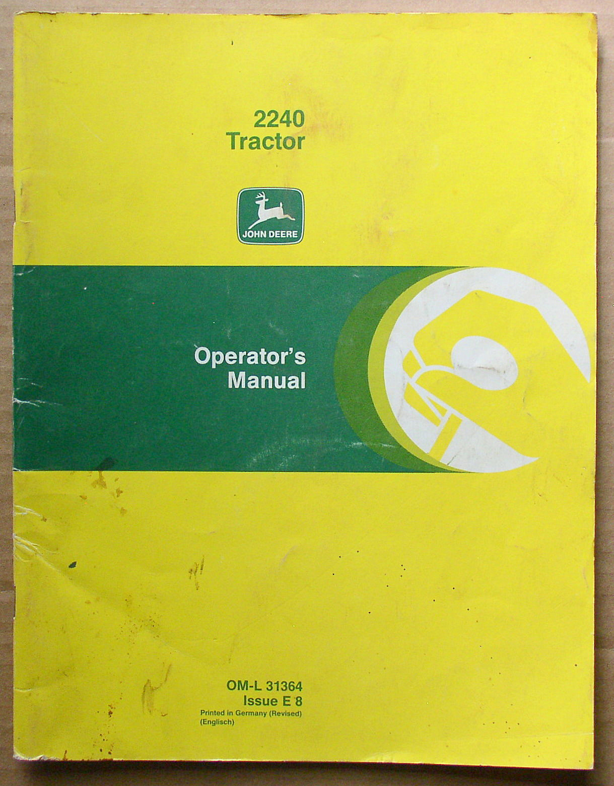 John Deere 2240 Service Manual Best Deer Photos Alternator Wiring Diagram Original Tractor Operators Thingery