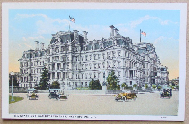 c t  american art colored postcard