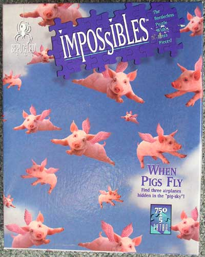 When Pigs Fly Sealed Impossibles Puzzle 1995 750 Pc