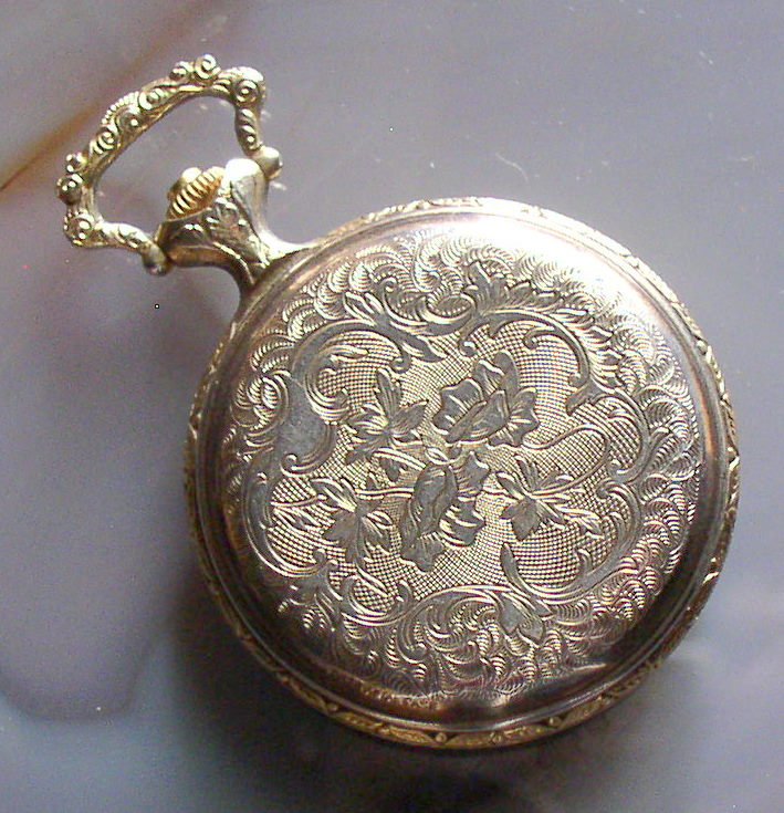 Timex Hunter Case Pocket Watch Gold Plated Runs Thingery