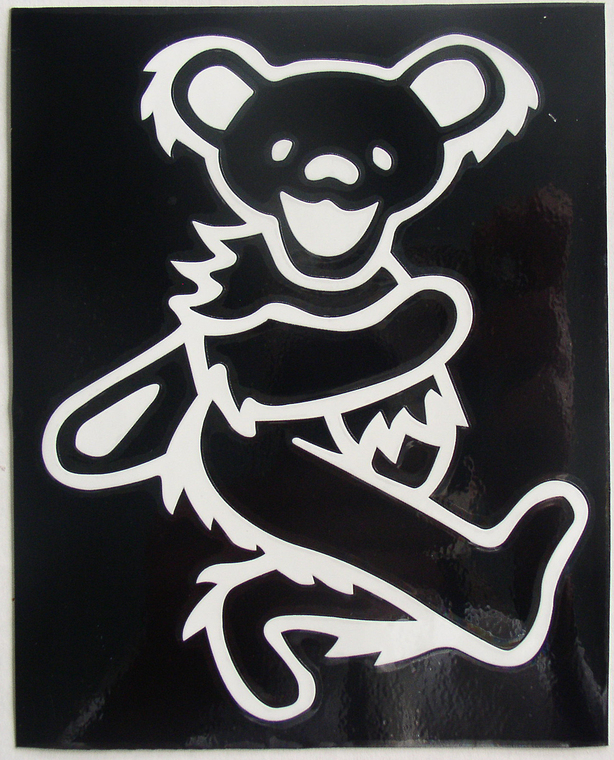 Grateful Dead Dancing Bear Rub Off Decal Thingery