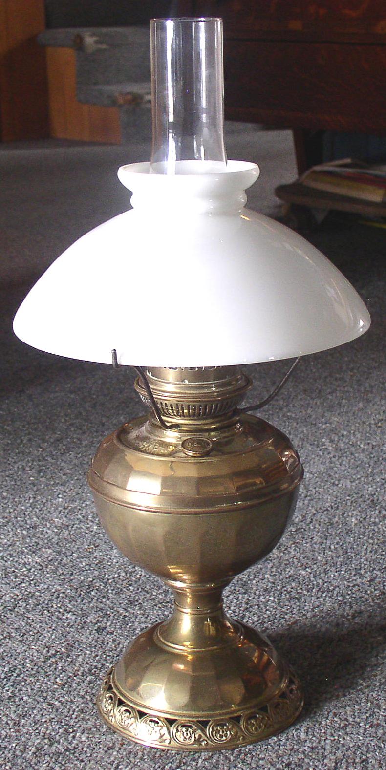 Bradley Amp Hubbard B Amp H No 4 Radiant Brass Oil Lamp