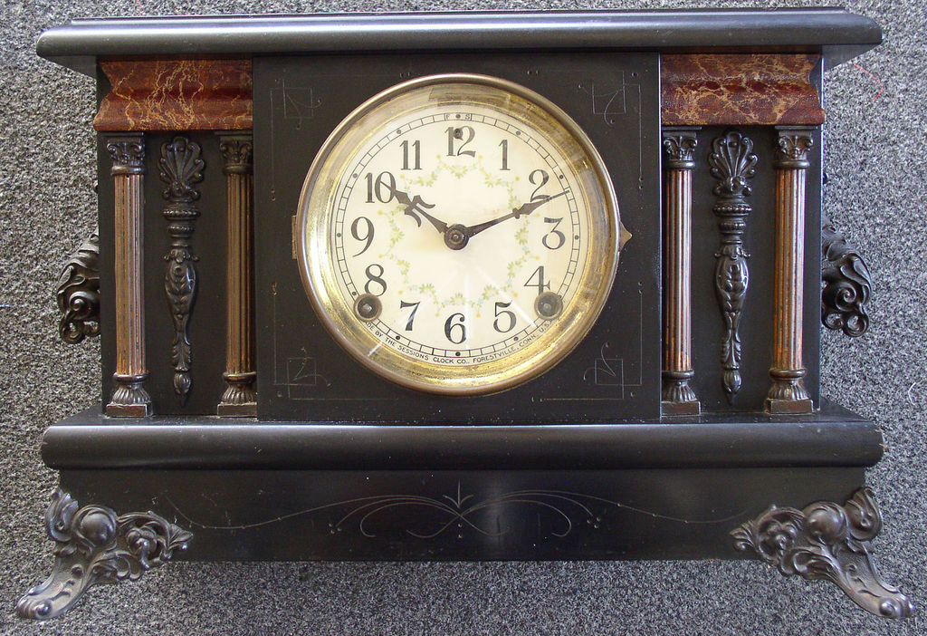 Sterling Auto Sales >> Eight Day Sessions Black Mantle Mantel Shelf Clock – Thingery Previews Postviews & Thoughts