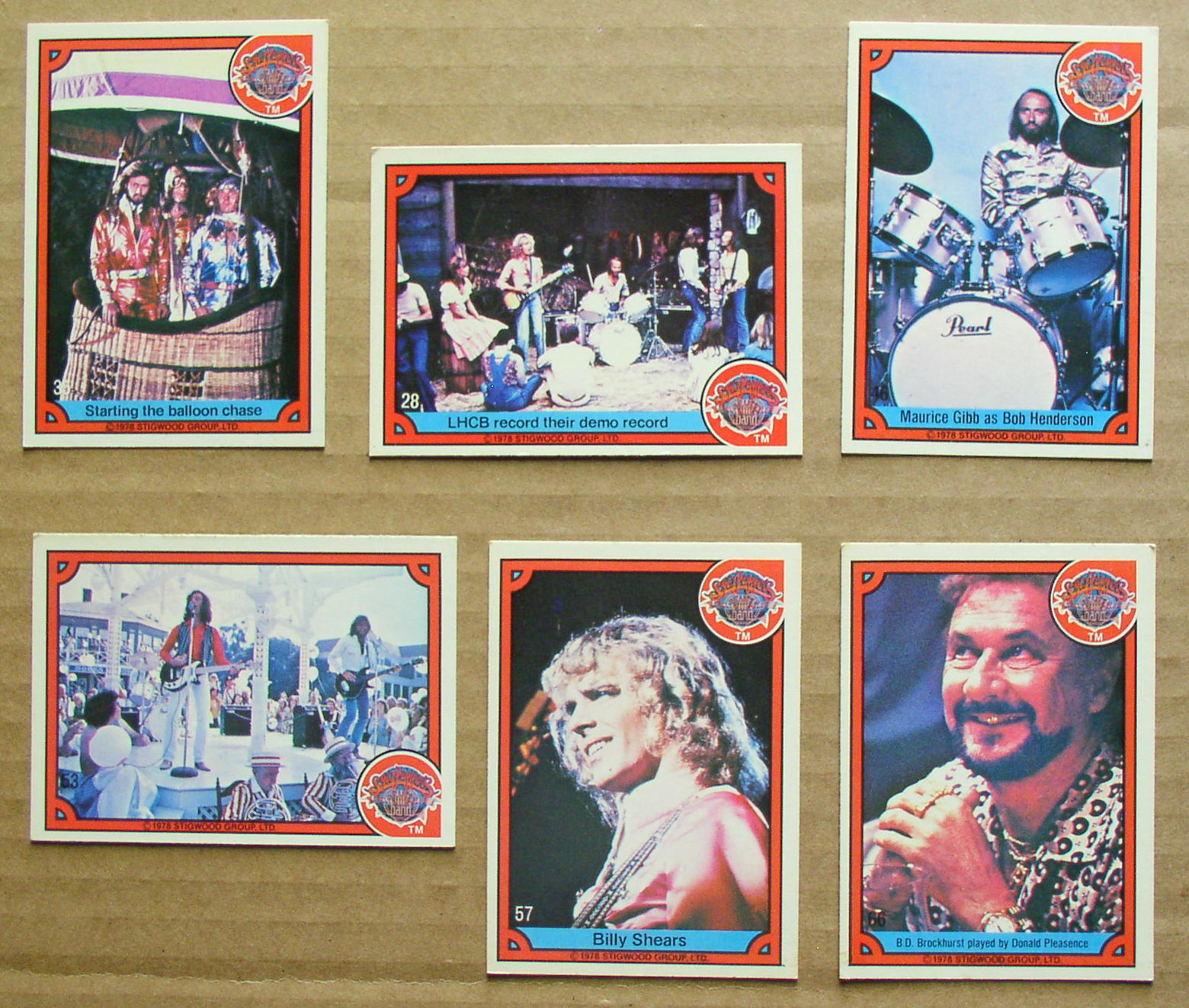 6 Donruss 1978 Sgt Pepper S Lonely Hearts Club Band Cards