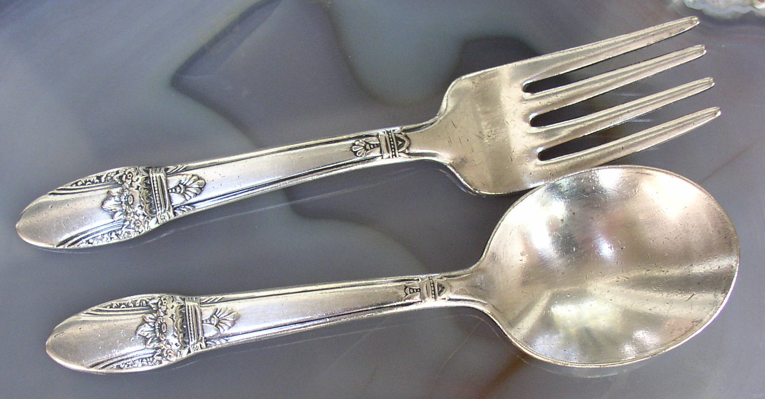 1847 Rogers Bros First Love Baby Spoon Amp Fork Set