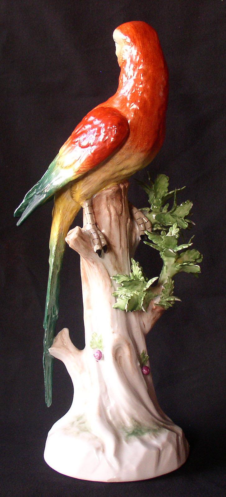 Vintage porcelain parrots something is