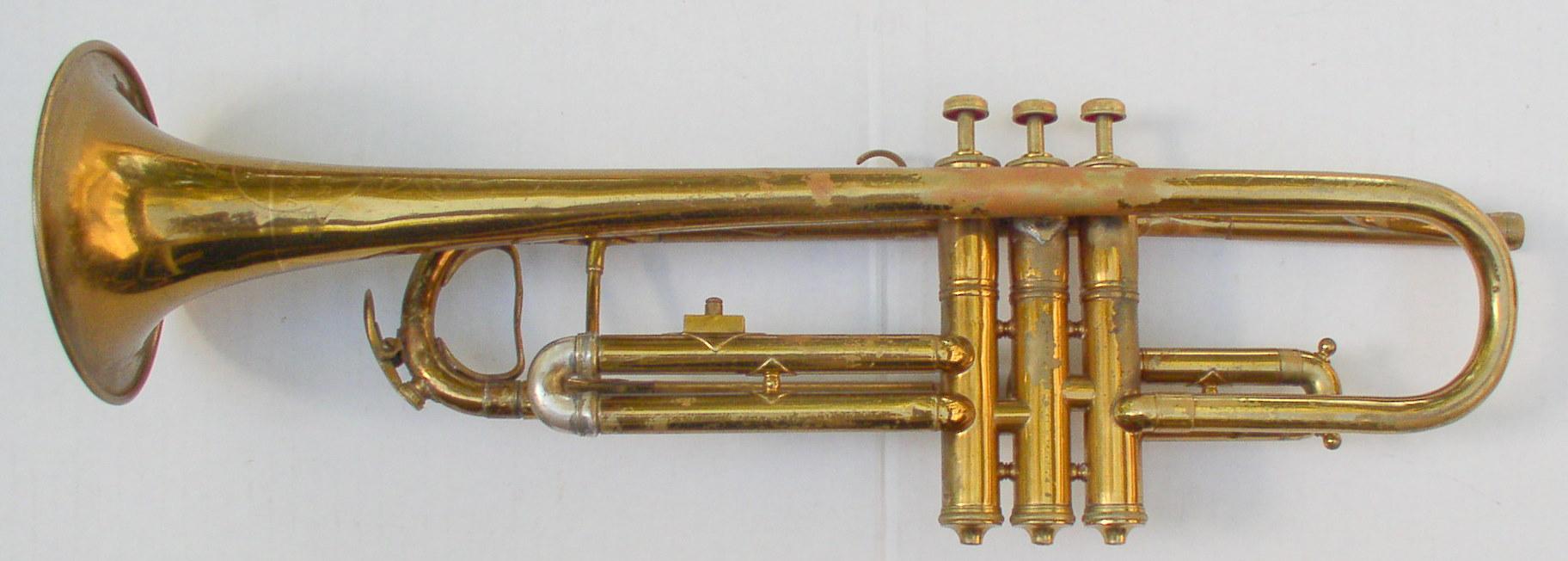 Vintage Wurlitzer Professional Brass Trumpet Valves Slides Operate ...