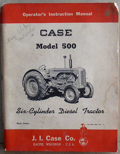 ford 500 tractor manual