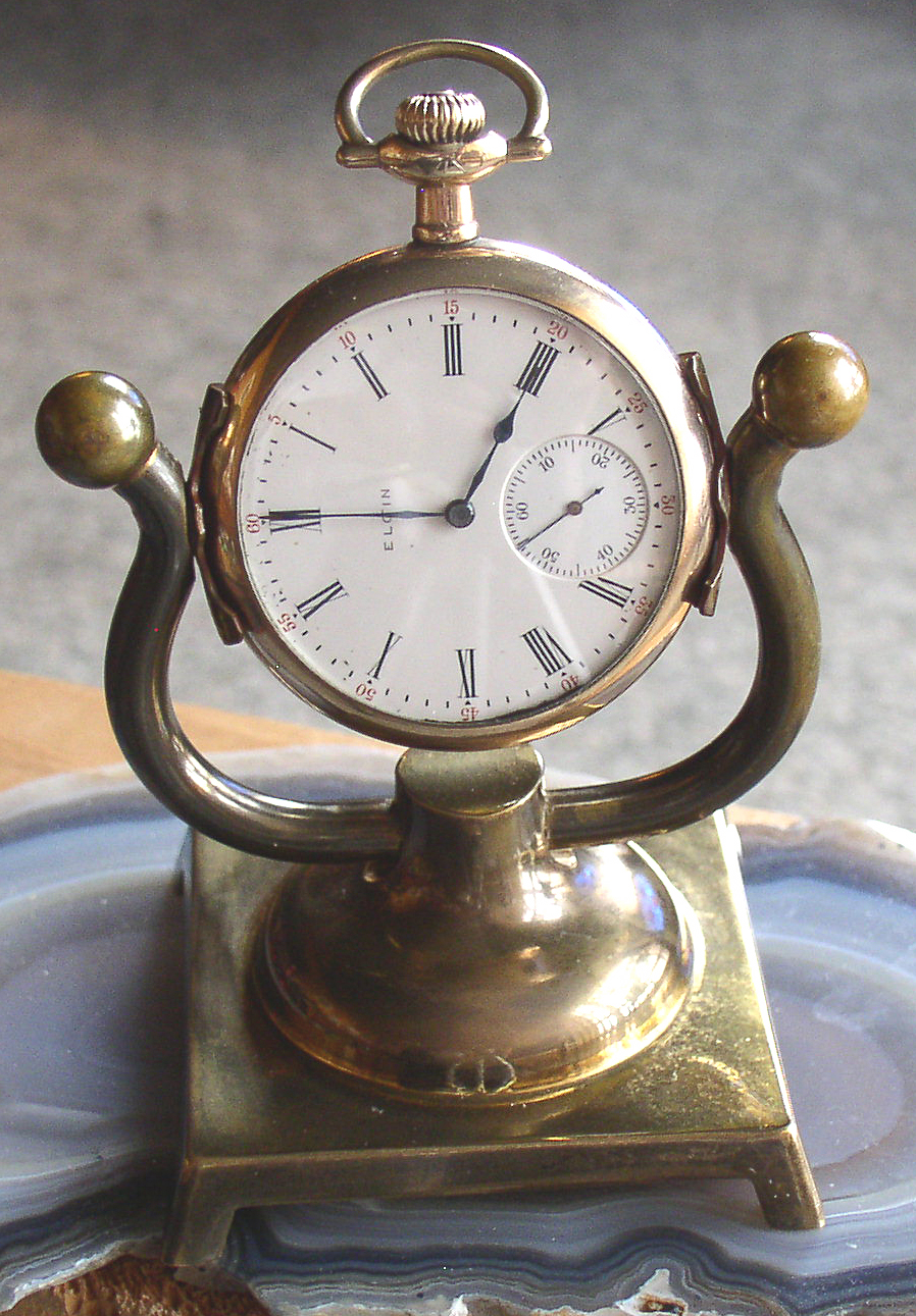Vintage Brass Pocket Watch Stand Holder Display Watch Not