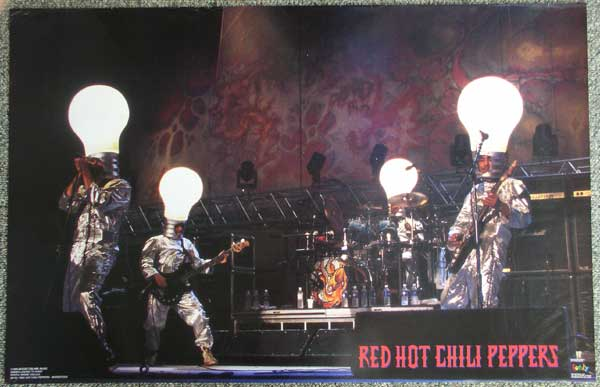 1995 Red Hot Chili Peppers Light Bulb Heads 9 Posters Thingery Previews Postviews Amp Thoughts