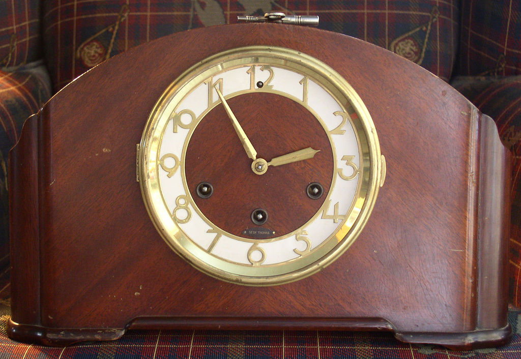 Seth Thomas Westminster Chime Art Deco Mantle Clock