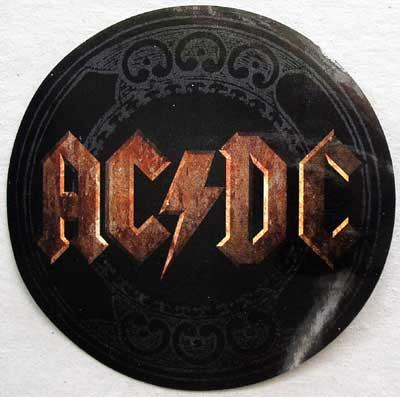 AC/DC / Stiff Upper Lip sticker front