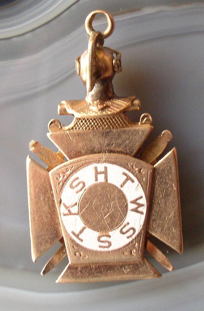 Knights Templar 10k Gold Jewels Masonic Watch Fob 12 2