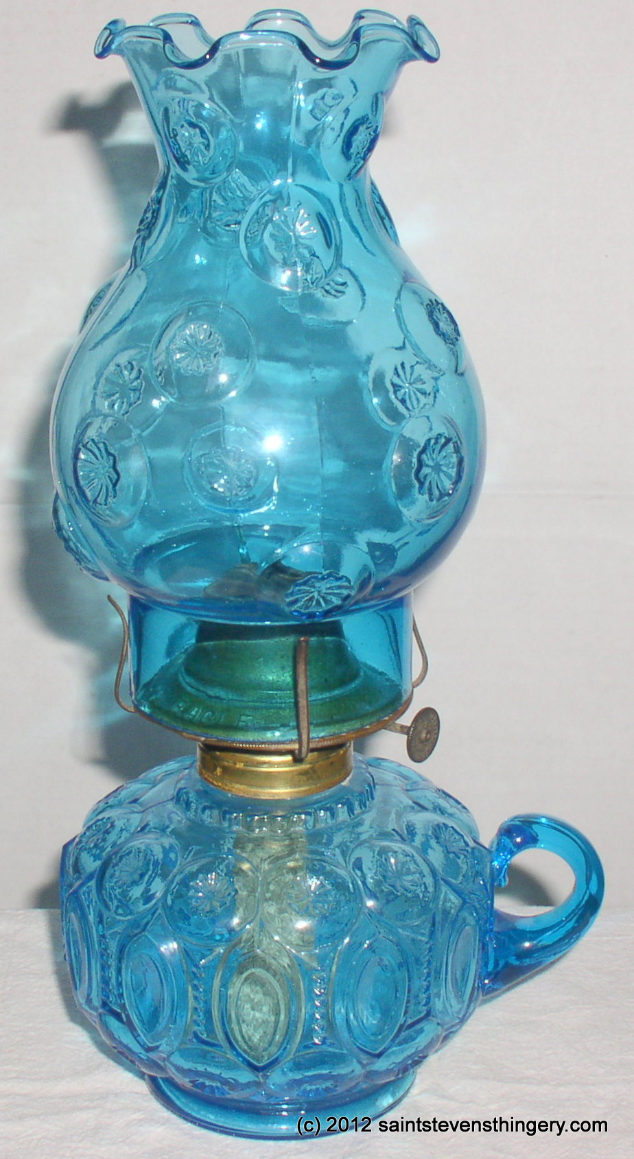 Smith Auto Sales >> LE Smith Moon And Stars Blue Glass Finger Oil Lamp ...