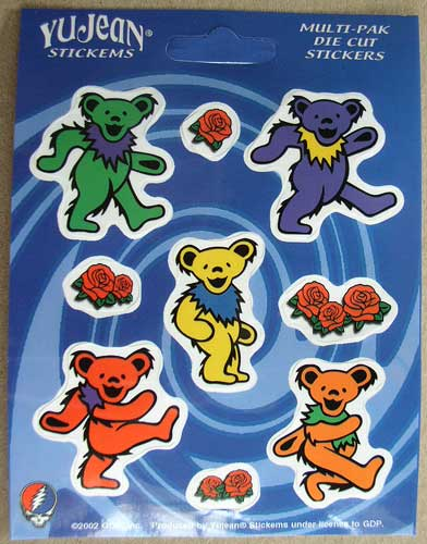 Grateful Dead Dancing Bears Mini Sticker