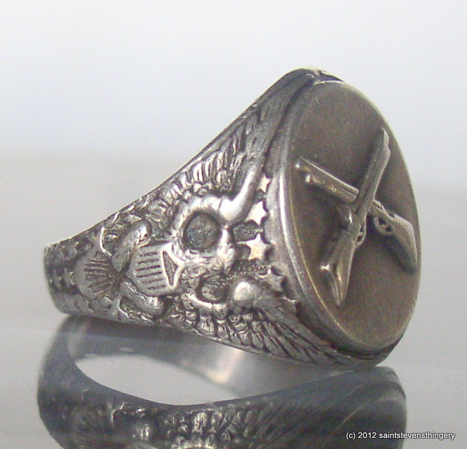 Wwi Sterling Silver U S Infantry Ring With Crossed Rifles