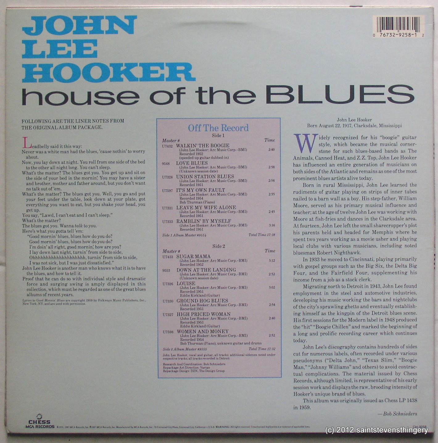 Image result for john lee hooker house of the blues