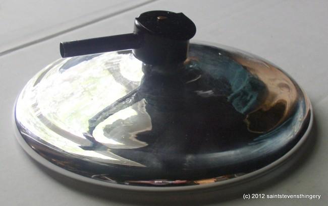 7 1 2 Mercury Glass Reflector For Bracket Kerosene Oil