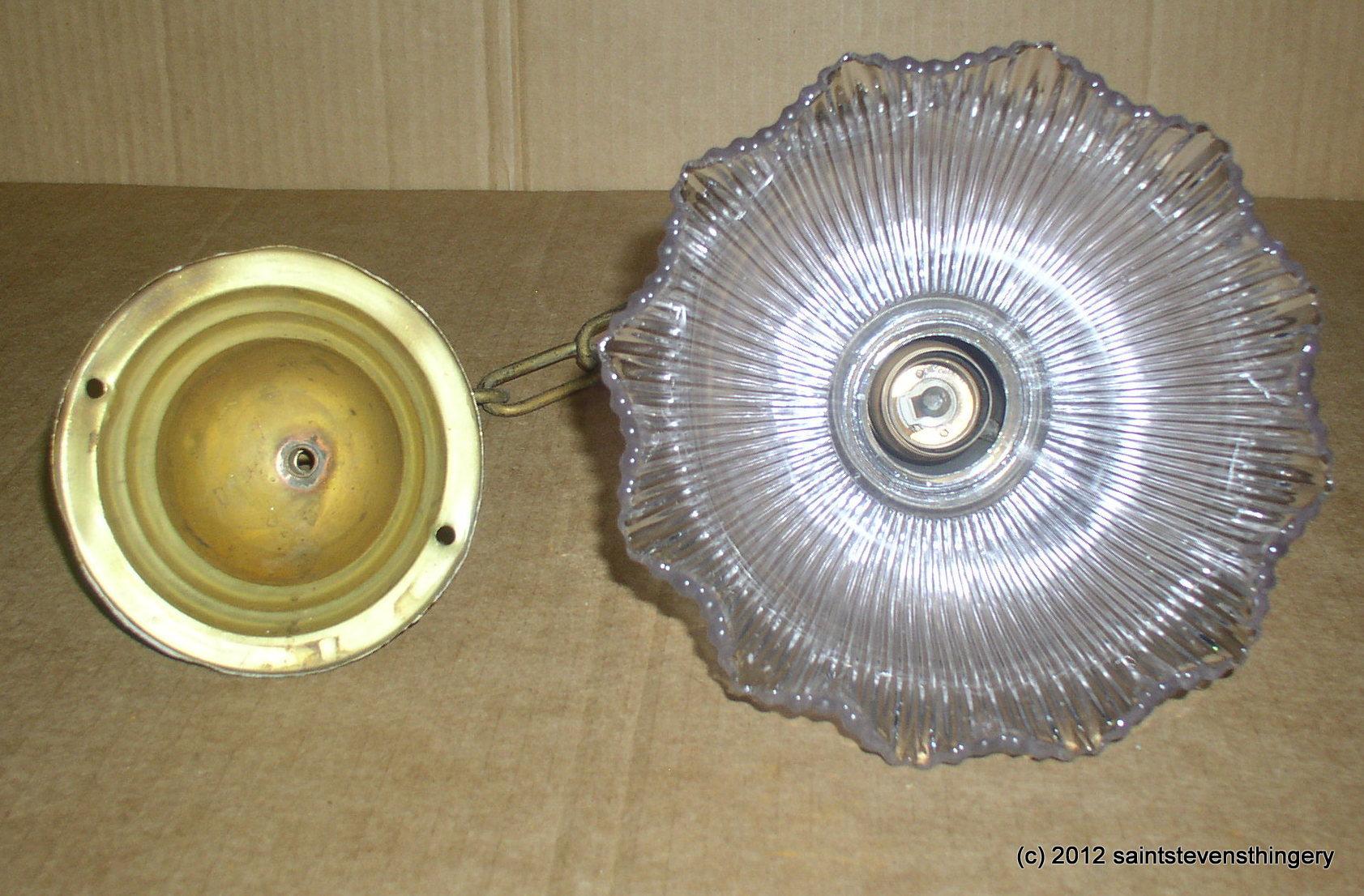 Antique Industrial Hanging Brass Pendant Light Fixture