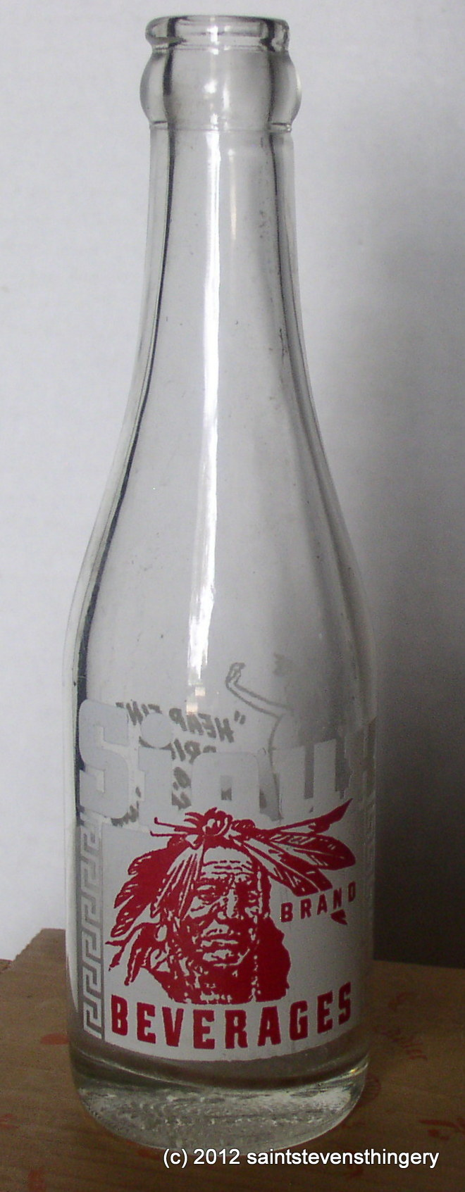 Sioux Beverages 1951 Indian 7 Oz Acl Painted Label Soda