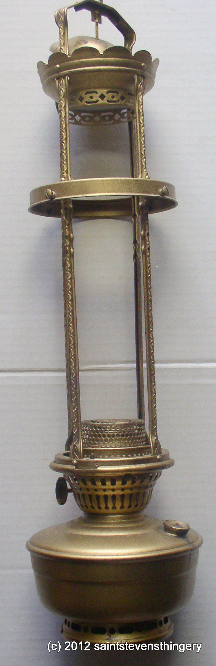 Aladdin Model 12 Hanging 4 Post Oil Lamp Thingery