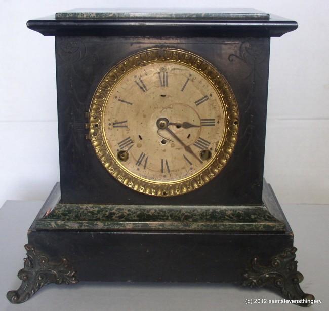 Antique Seth Thomas Sussex Adamantine Mantel Clock Faux