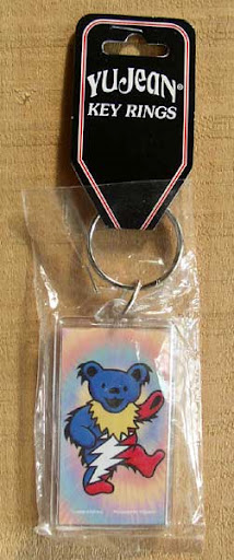 Lightning Bolt Dancing Bear Keychain