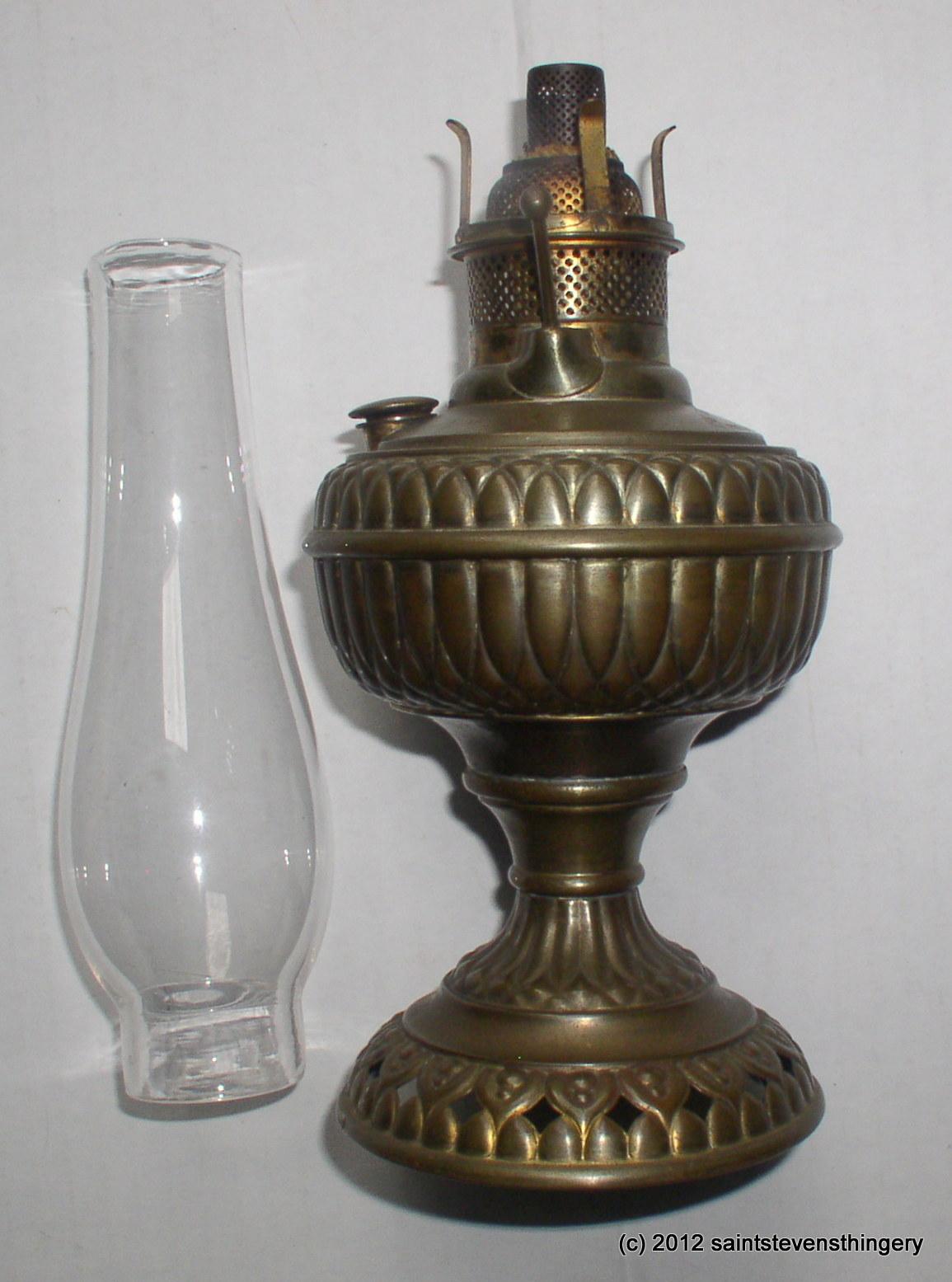 1886 Jr Rochester Center Draft Kerosene Oil Lamp Junior